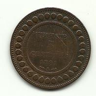 1891 - Tunisia 5 Centimes - Tunisia