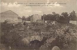 -dpts Div.-ref-AG926- Marne - Auve - Ruines De Maisons Incendiées Par Les Allemands - 6 Septembre 1914 - Guerre 1914-18 - France