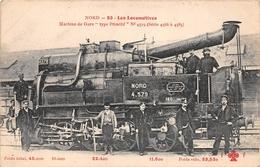 """Les Locomotives  - Machine De Gare Type """" Primitif """" N° 4.579  Du Réseau NORD  -  Cheminots  -  Chemin De Fer - Matériel"""
