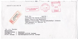 K123 Netherlands Red Meter Freistempel EMA 1984 GRONINGEN RIJKS UNIVERSITEIT - Marcofilie - EMA (Print Machine)