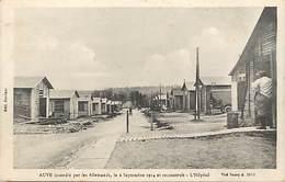 -dpts Div.-ref-AG925- Marne - Auve Incendié Par Les Allemands Et Reconstruit - Hopital - 6 Sept. 1914 - Guerre 1914-18 - France