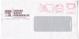 K124 Netherlands Red Meter Freistempel EMA 1984 AMSTERDAM Elsevier Scientific Publishing Company B.v. - Marcofilie - EMA (Print Machine)
