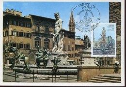 43750  Italia,  Maximum  1992, Firenze The Fountain Of Nepthune, Architecture - Autres
