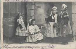 29 - Finistère - Costumes D'enfants De Pont-l'Abbé Et De Pluguffan - Circulé - Dos Non Séparé - Animée - TBE - Pont L'Abbe