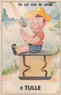 """Carte Humoristique - 10 Vues Dépliantes : """" Un Joli Coin De Pêche à TULLE."""" - Tulle"""