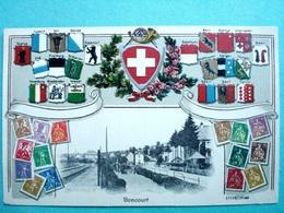 Suisse , Carte Gaufrée ,  Boncourt - Autres