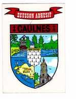 Carte Autocollant Blason Ecusson Adhesif Caulnes Bretagne - A Systèmes