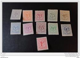 Belgique 1951 N° 849 à 859 Chiffre Sur Lion Héraldique - Nuovi