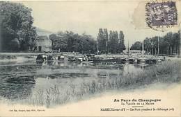 -dpts Div.-ref-AG922- Marne - Mareuil Sur Ay - Le Port Pendant Le Chômage - Bateaux - Carte Bon Etat - - Mareuil-sur-Ay