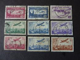 FRANCE, Année 1930-36, Poste Aérienne YT N° 5 à 13 Oblitérés (cote 69 EUR) - Poste Aérienne