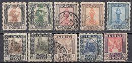 LIBIA (COLONIA ITALIANA) - Lotto Di 10 Valori Usati: Yvert 45/51, 53, 60 E 61, Come Da Immagine. - Libya
