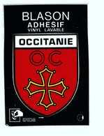 Carte Autocollant Blason Ecusson Adhesif Occitanie - A Systèmes