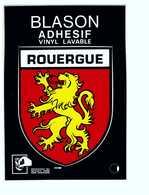 Carte Autocollant Blason Ecusson Adhesif Rouergue - A Systèmes