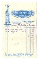 FACTURE MENTHE PASTILLE M. GIFFARD & Cie à ANGERS 1929 - France