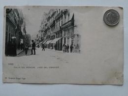 Vigo, Calle Del Principe, Lado Del Gimnasio, Straßenansicht, Um 1910 - Pontevedra