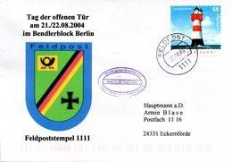 """(BWFP2) BRD-Bundeswehr, Feldpost-Sonderumschlag """"Tag Der Offenen Tür Am 21./22.08.2004"""" EF Mi 2413 21.8.04 FELDPOST 1111 - BRD"""