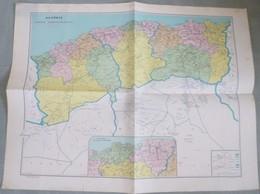 Carte Administrative De L'ALGERIE - 1/1 500 000ème - 1961. - Cartes Géographiques