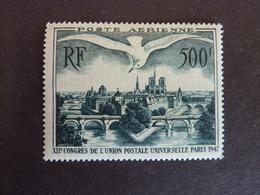FRANCE, Année 1947, Poste Aérienne YT N° 20 Neuf MH* (cote 42 EUR) - Poste Aérienne