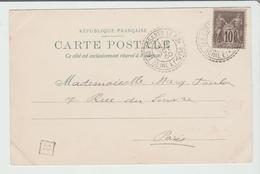 """SEINE & OISE : """" LES ESSARTS """" CàD Type B2 / CPA De 1900 Pour Paris TB - Marcophilie (Timbres Détachés)"""