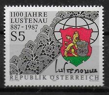 AUTRICHE    N° 1714    * *     Armoiries Lustenau   Broderie Dentelle - Textile