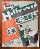 SPARTITO MUSICALE VINTAGE  SOGNO HOLLYWOOD Di Ramo-Mascheroni DIS.BONFANTI VII EDITORE AQ.&G.GARISCH &C. MILANO 1929 - Musica Popolare