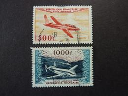 FRANCE, Année 1954, Poste Aérienne YT N° 32 Et 33 Oblitérés (cote 35 EUR) - Poste Aérienne