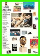 ADVERTISING - PUBLICITÉ -  CENTRE GEORGES POMPIDOU, SAISON 2002-2003 - FEMME NUE - EN TOUTE LIBERTÉ AVEC LE LAISSEZ-PASS - Publicité