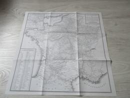 CARTE GEOMETRIQUE DES ROUTES DES POSTES - 50 X 50 - En Parfait état - Cartes Géographiques