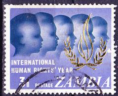 Sambia Zambia - Jahr Der Menschenrechte (MiNr: 52) 1968 - Gest Used Obl - Zambie (1965-...)