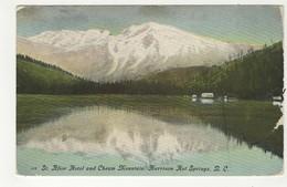 HARRISON HOT SPRINGS, British Columbia, Canada, St. Alice Hotel & Cheam Mountain, Canadian Rockies, 1912 Postcard - Colombie Britannique