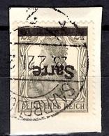 Sarre YT N° 2A Surcharge Renversée Oblitéré Sur Fragment. B/TB. A Saisir! - Used Stamps