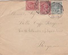 BUSTA VIAGGIATA - ROMANO DI LOMBARDIA (BG) COLLEGIO VESCOVILE - VIAGGIATA PER BERGAMO - 1900-44 Vittorio Emanuele III