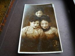 Chine - China - SHANGHAI Années 1934/35 - Portrait 3 Jolies CHINOISES ? - Chine