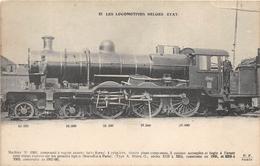 Les Locomotives BELGES ETAT  -   Machine  N° 3360  - Cheminots - Chemin De Fer - Non Classés