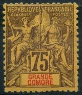 Grande Comores (1897) N 12 * (charniere) - Neufs