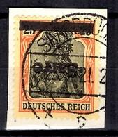 Sarre YT N° 9A Surcharge Renversée Oblitéré Sur Fragment. B/TB. A Saisir! - Used Stamps