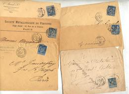 Lot 14 Lettre Cachet Paris Sur Sage à Voir - Postmark Collection (Covers)