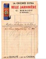 FACTURE CHICOREE BELLE JARDINIERE 1940 - France