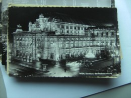Oostenrijk Österreich Wien Wenen Oper Mit Beleuchtung - Wien Mitte