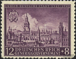 General 92 Unmounted Mint / Never Hinged 1942 City Lublin - Occupation 1938-45