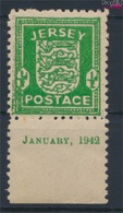 Jersey (Dt. Bes.2.WK.) 1x Graues Papier Postfrisch 1942 Wappen (9292002 - Occupation 1938-45