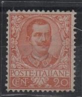 1901 Floreale 20 C. MNH Ottima Centratura - 1900-44 Victor Emmanuel III