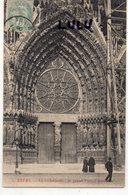 DEPT 51 : édit. ? : Reims La Cathédrale Le Grand Portail Central - Reims