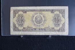 M-An / Billet  - Roumanie - Republica Populara Romana  Un Leu  / Année ? - Roumanie