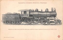Les Locomotives - ETAT-UNIS - Machine Du BALTIMORE And OHIO Railway N° 1328  -  Train, Chemin De Fer - Baltimore