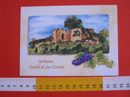 G.2 ITALIA GATTINARA VERCELLI - CARD NUOVA - 2013 MOSTRA CARTOLINE CASTELLO SAN LORENZO RUDERI UVA VINO WINE ORIZZONTALE - Châteaux
