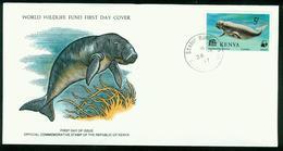 FD Kenia FDC 1977 | MiNr 91 | WWF, Weltweiter Naturschutz, Geschützte Tiere, Dugong - Kenya (1963-...)