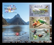 New Zealand 2018 Mih. 3608/09 3611 (Bl.424) Philatelic Exhibition In Bangkok. Fauna. Endemic Birds MNH ** - Nouvelle-Zélande