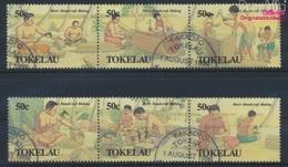 Tokelau 177-182 Dreierstreifen (kompl.Ausg.) Gestempelt 1990 Traditionelles Handwerk (9294104 - Tokelau