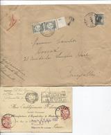 SJ19/  6 Lettres Et CP Taxées Gand-Woluwé-BXL-Leuze Différentes Valeurs Bon Lot - Covers